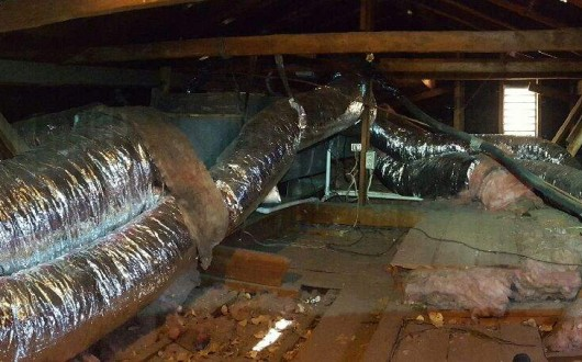 Air Conditioning Installation and Duct Work Wrapping Canyon Lake, California